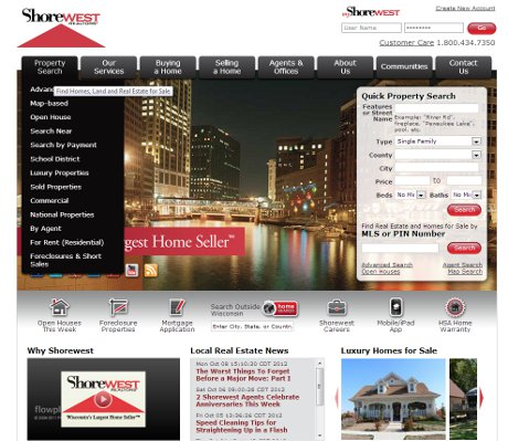 Shorewest Real Estate site