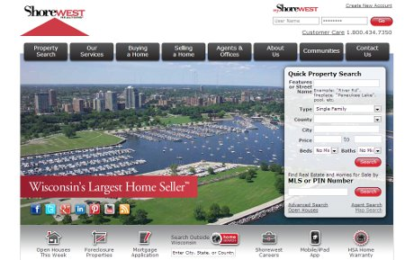Shorewest Realty landing page