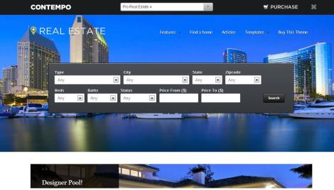 Wordpress Real Estate Templates. dream land single property real ...