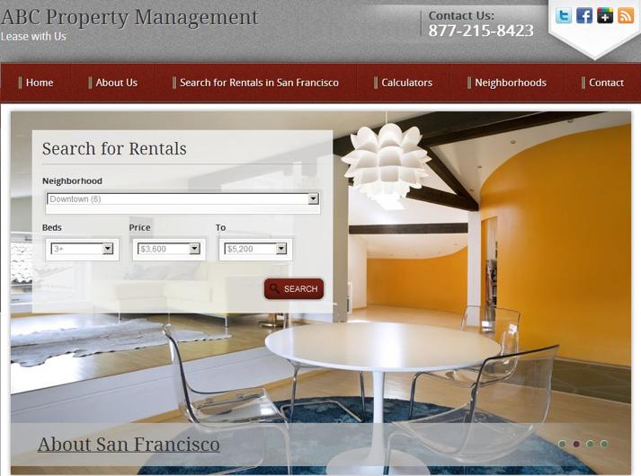 Example of Zillow's new free rental websites