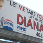 """Real Estate Agent's """"Sexy"""" Billboard Ad Sets Tongues Wagging"""