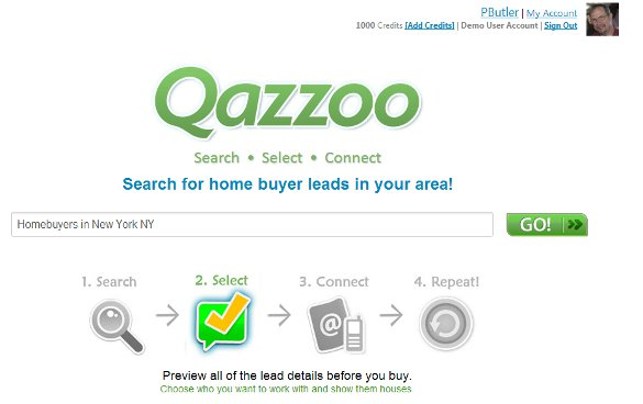 Qazzoo landing screenshot