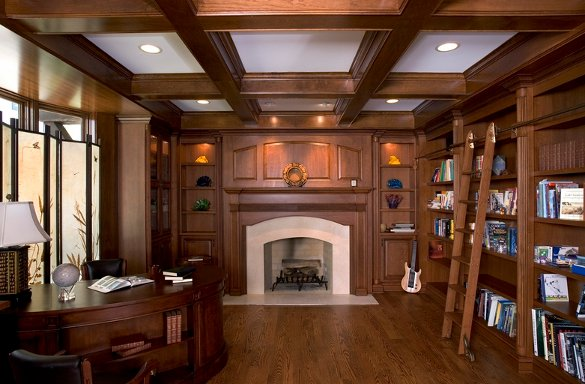 Office library at an Orren PIckell home