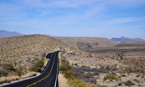 Two lane black top in Texas - courtesy © spejsek - Fotolia.com