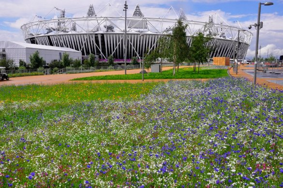 The Olympic park now - courtesy The University of Sheffield