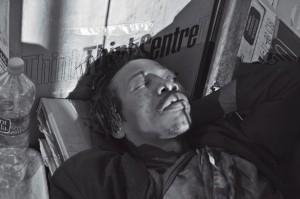 Barcelona homeless man