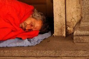 Homeless man by César Astudillo