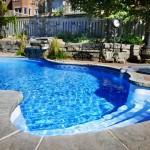 Backyard swimming pool