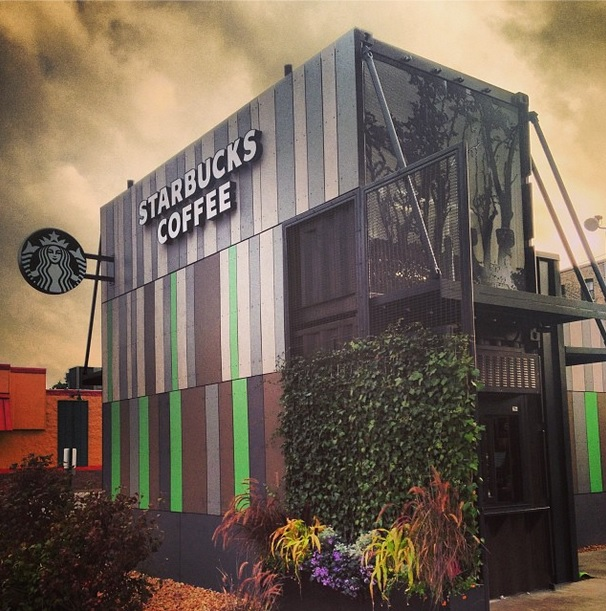 New chicago starbucks made from recyled shipping containers realtybiznews real estate news - Shipping container homes chicago ...