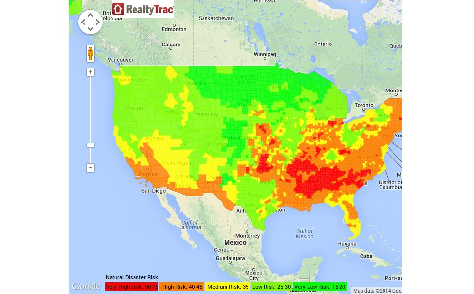 RealtyTrac Heat Map