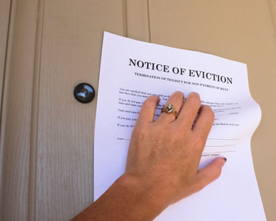 Eviction Notice on Door