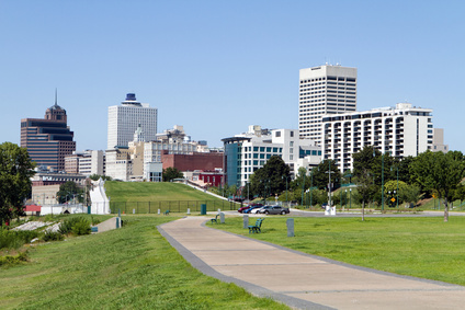 Memphis Park Downtown Skyline