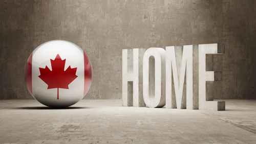 Canada. Home  Concept.