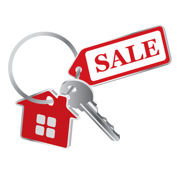 Vector keys on a white background, the sale