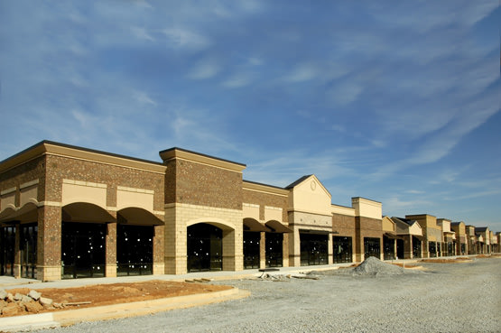 New Shopping Center with Office and Retail Space under Construction