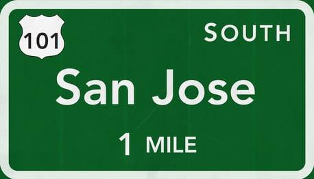 San Jose Highway Sign