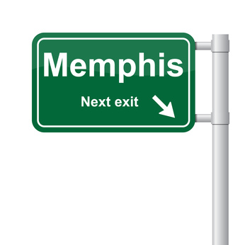 Memphis next exit green signal vector