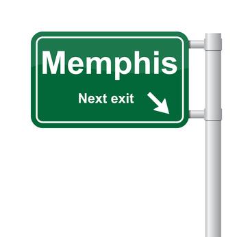 Memphis next exit green signal vector