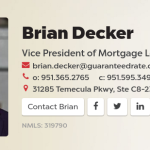 Brian Decker recognized as one of the nation's leading loan officers