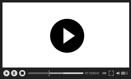 Classical vector web player on white background