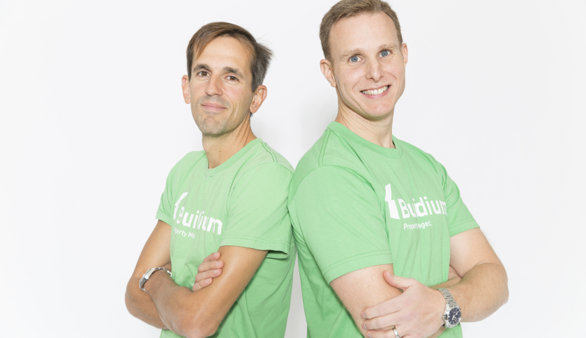 Buildium co-founders Dimitris Georgakopoulos and Michael Monteiro.
