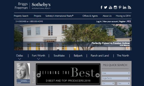 Briggs & Freeman reflect the luxury Sotheby's is noted for