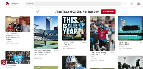 Allen Tate co brands with the Carolina Panthers