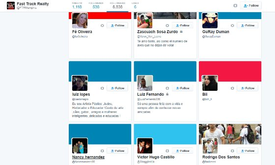 These fake followers follow a thousands and Tweet nothing