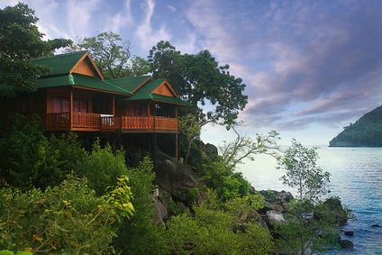 bungalow Thailand jungle landscape