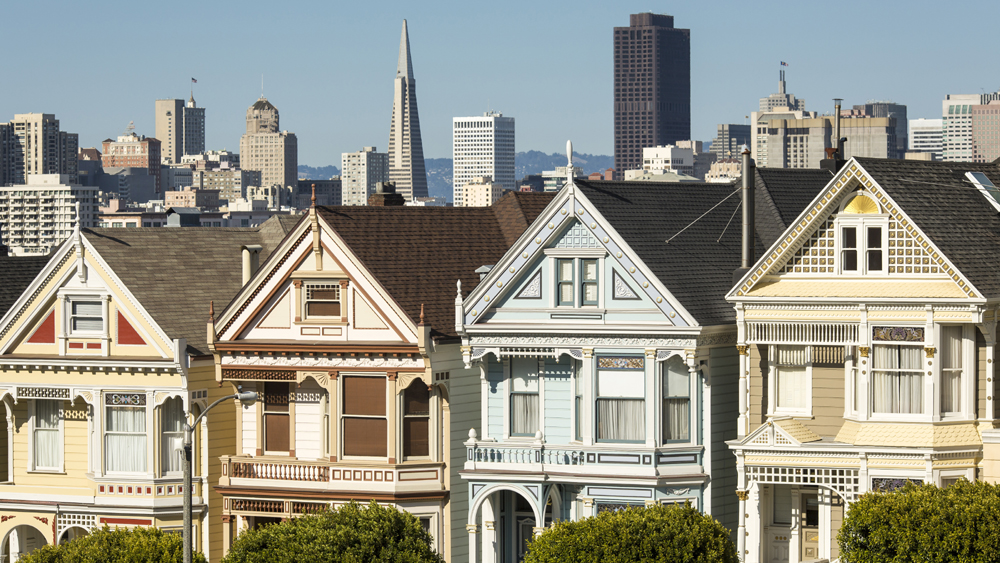 """Victorian style homes in San Francisco cityscape, California, United States"" (Newscom TagID: birfphotos143800.jpg) [Photo via Newscom]"