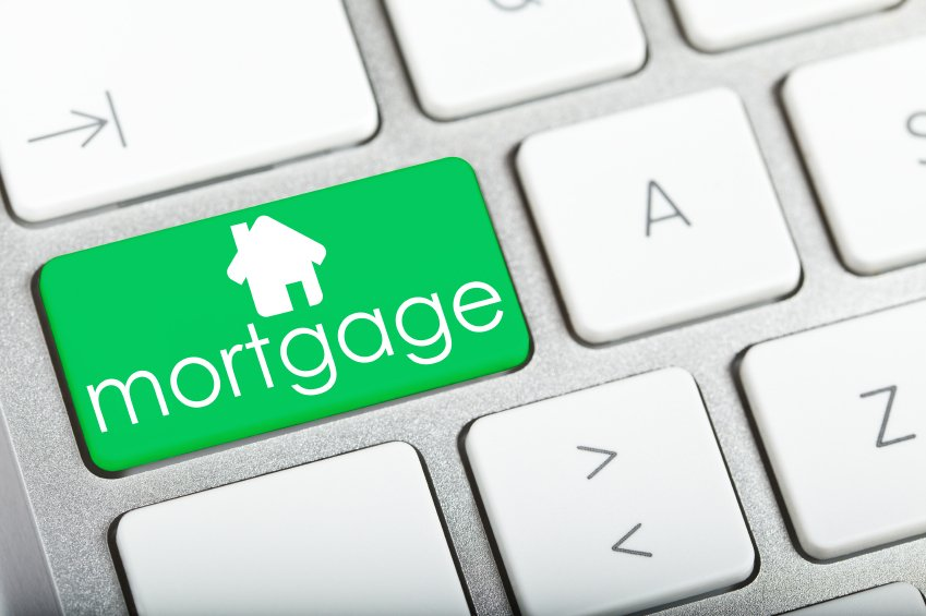 Mortgage button on a keyboard