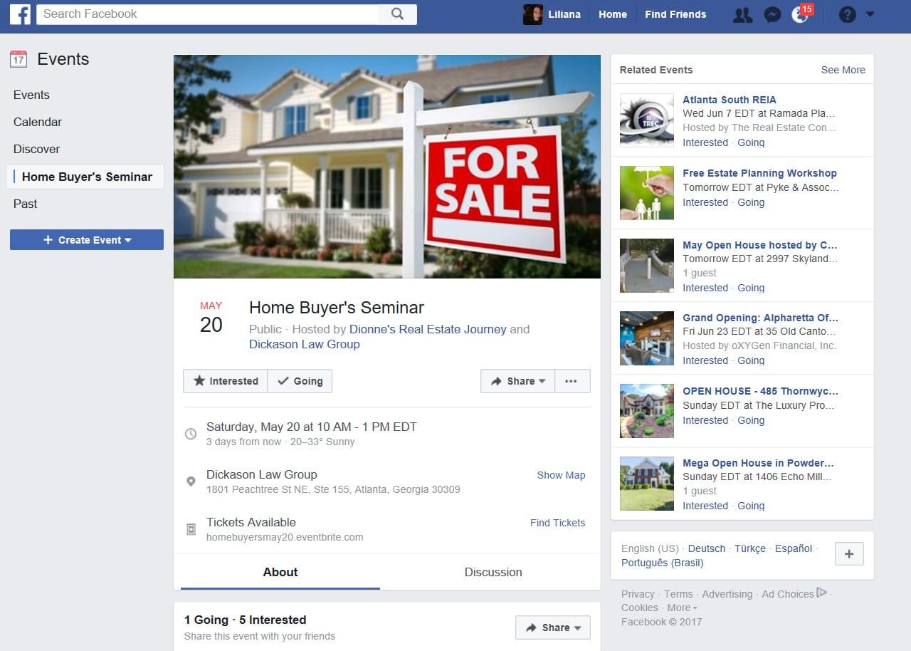 Facebook Marketing events
