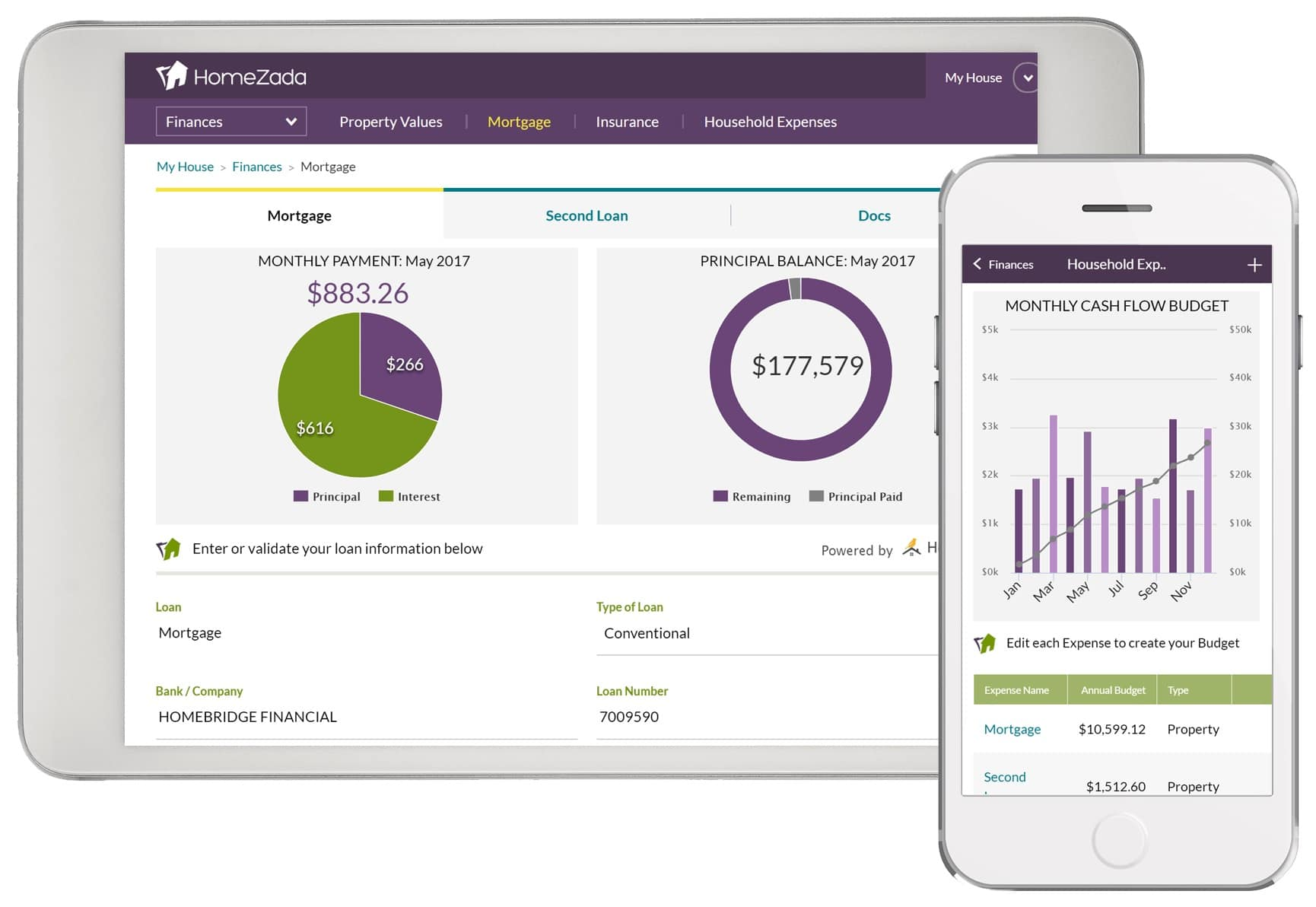 Homezada Personal Finance App