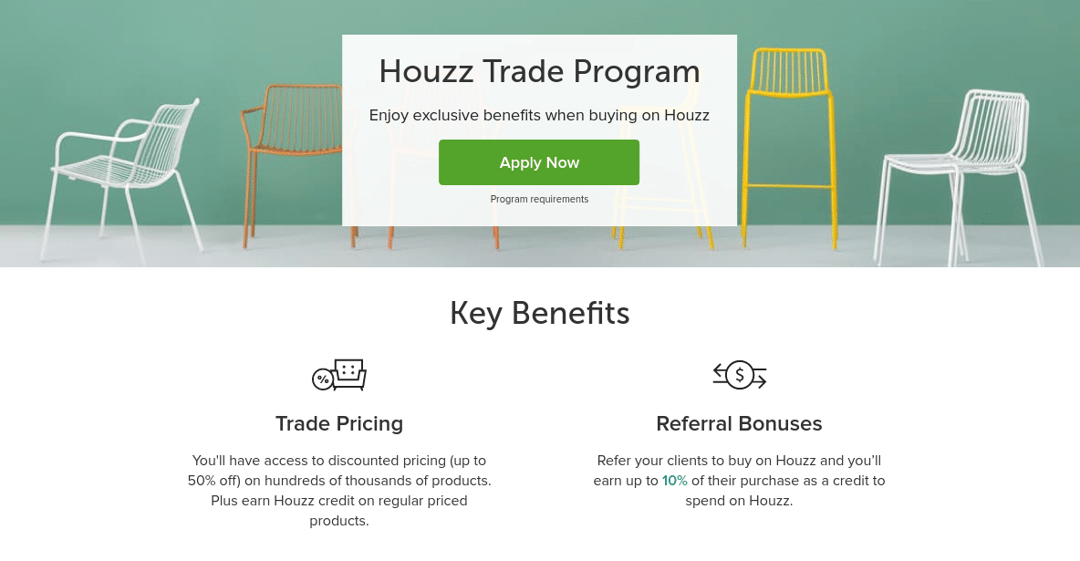 Houzz launches new trade program providing big discounts for House trade in program