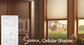 Security, Mood Lighting and More with Lutron Serena Remote Controlled Shades