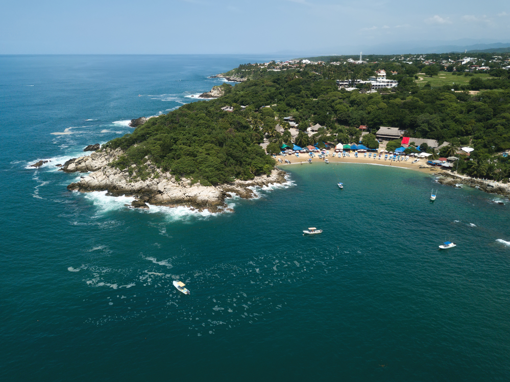 Manzanillo beach in Puerto Escondido