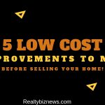 Low Cost Improvements When Selling a House