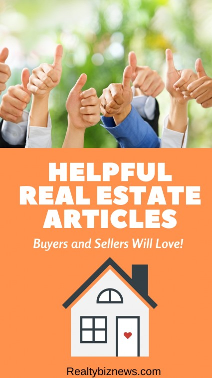 Helpful real estate articles to help buyers and sellers make sound decisions.