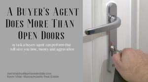 real estate agent opening door for a showing