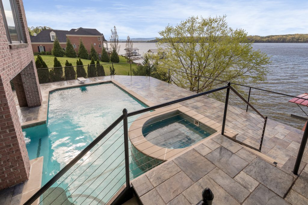 The pool at 4385 Sailmaker Circle