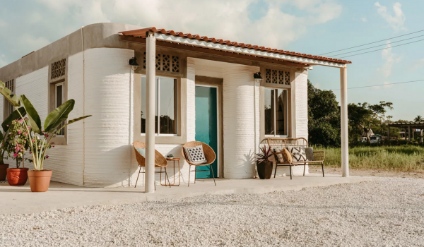 New Story builds its first 3-D printed homes for low income families in Mexico