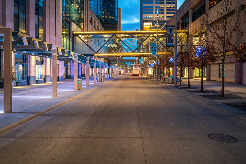 Nicollet Mall in Downtown Minneapolis
