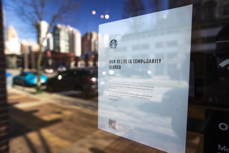 Starbucks closes on account of coronavirus