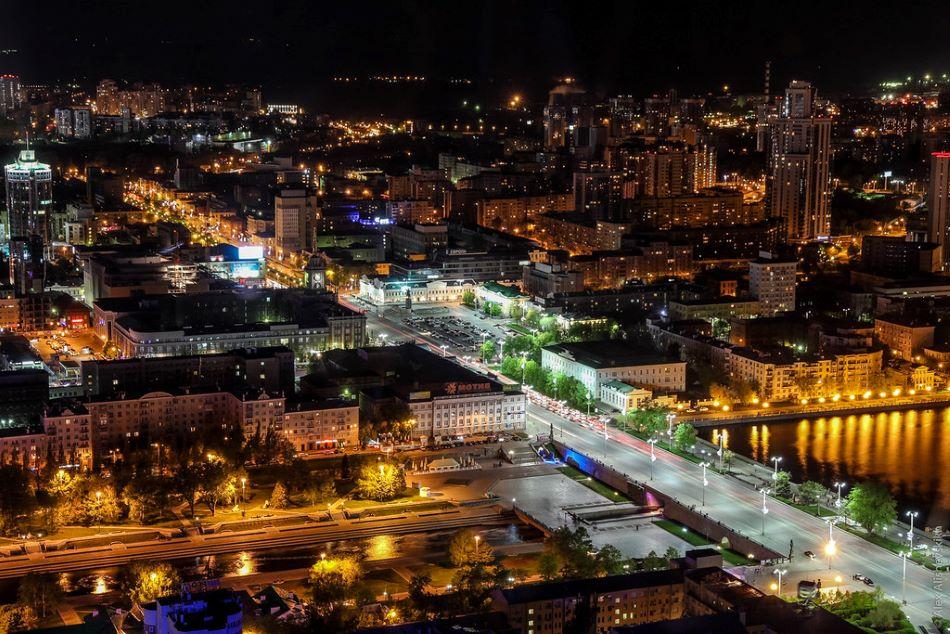 Ekaterinburg, Russia at night