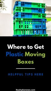 Where to Get Plastic Moving Boxes