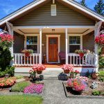 Curb appeal of a cute bungalow