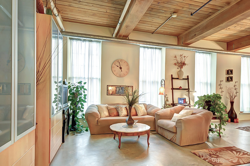 vertical height in a loft presnets challenges