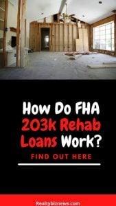 How do FHA 203k loans work