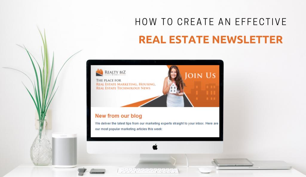 Effective real estate newsletter illustration.