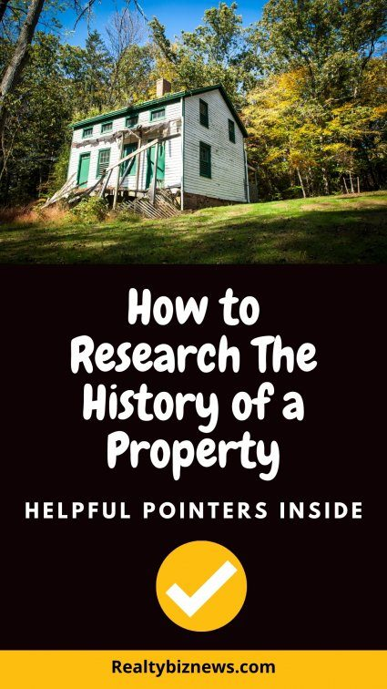 Research history of a house